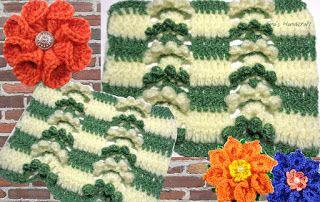 Tina's handicraft : video tutorial & pattern - crochet stitch No 31