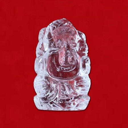 Lord Ganesh Idol in Crystal online from India to worldwide at fair rates.