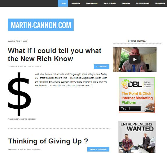 A New Website Has Been Submitted to Our Directory:  Category: Online Business, Website Name: Official site of Martin Cannon, Link: http://www.martin-cannon.com, Description: Martin Cannon Internet Business Entrepreneur Helping people to create a life of freedom And build their own online business.