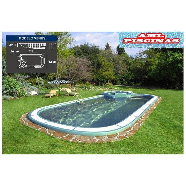 Piscina de poliester venus con spa tienda online for Ofertas piscinas poliester