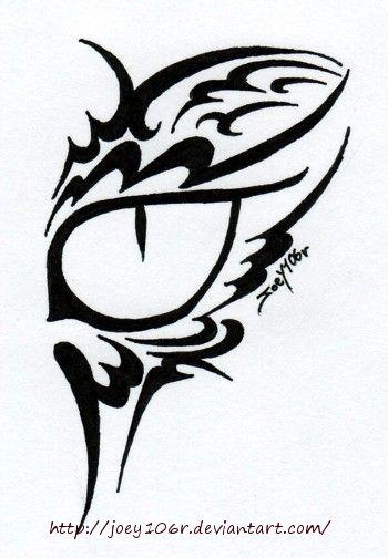 Tribal Cat Eye Tattoo by Joey106r.deviantart.com on @deviantART
