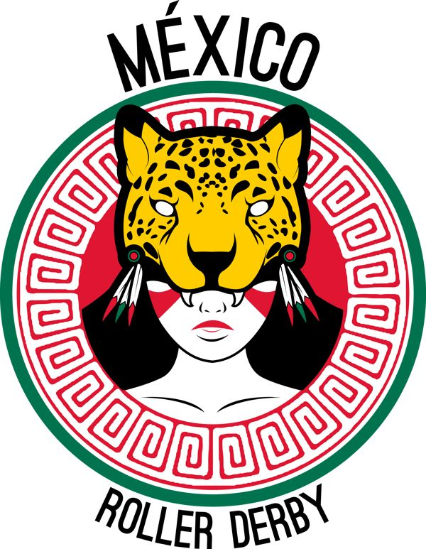 Team México Roller Derby Logo on Behance