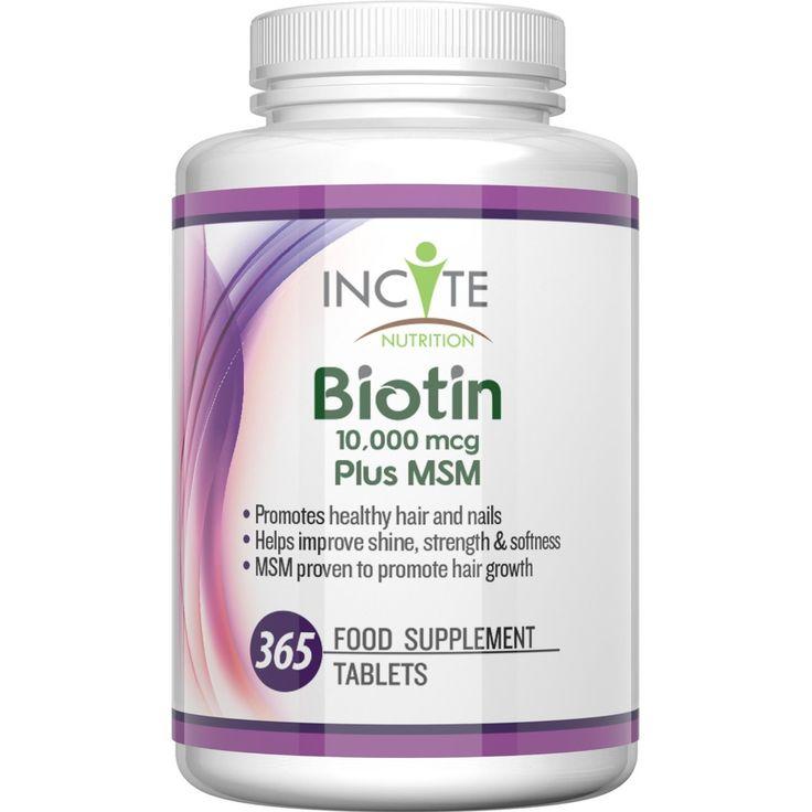 Vitamine per la crescita dei capelli con Biotina + MSM, 10.000mcg di Biotina + 250mg MSM (365 compresse - non capsule da 5000mcg) SODDISFATTI O RIMBORSATI Prodotte in UK - Scorta per Sei Mesi dei Migliori Integratori per la Perdita dei Capelli Migliore Trattamento di Bellezza per Uomini e Donne Glucosammina - Biotina B7 di Incite Nutrition +Complesso di MetilSulfonilMetano Migliore dello Shampoo, Per Capelli Sani.: Amazon.it: Salute e cura della persona