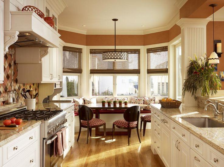 chic eat in kitchen design ideas brown vintage eatin kitchen