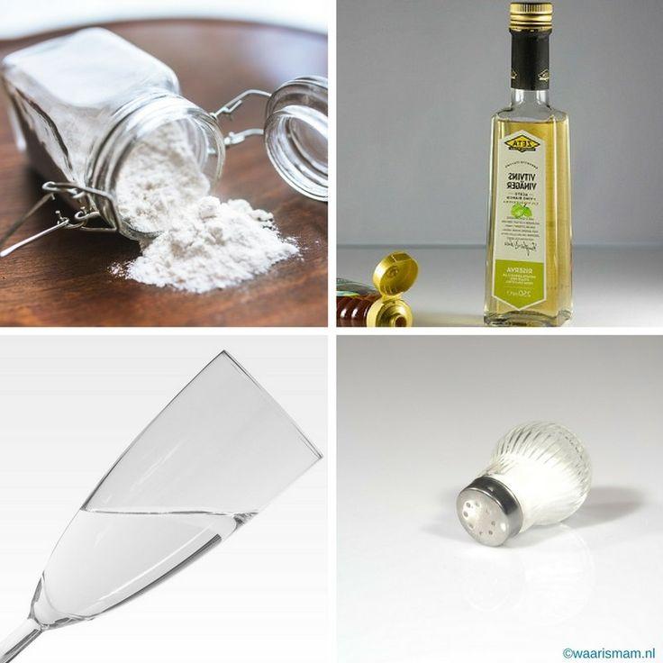 Met deze 4 basisproducten heb je geen andere schoonmaakproducten meer nodig. Dit gouden viertal houdt je huis fris en schoon. Natuurlijke producten die je n