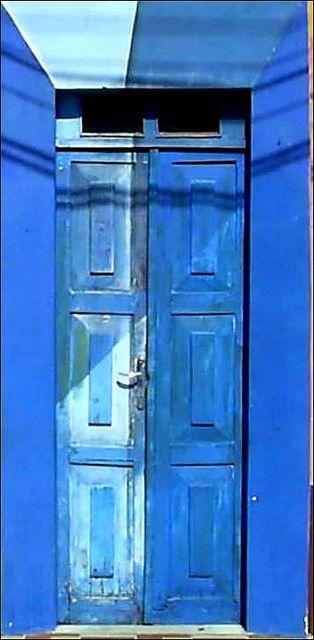 Blue door in Brazil