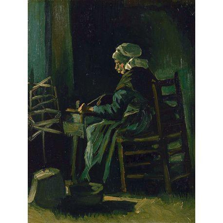 Reprodukcje obrazów Vincent van Gogh Woman Winding Yarn - Fedkolor
