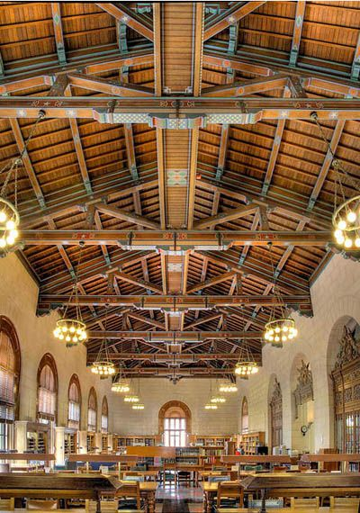 university of texas -- Battle Hall reading room