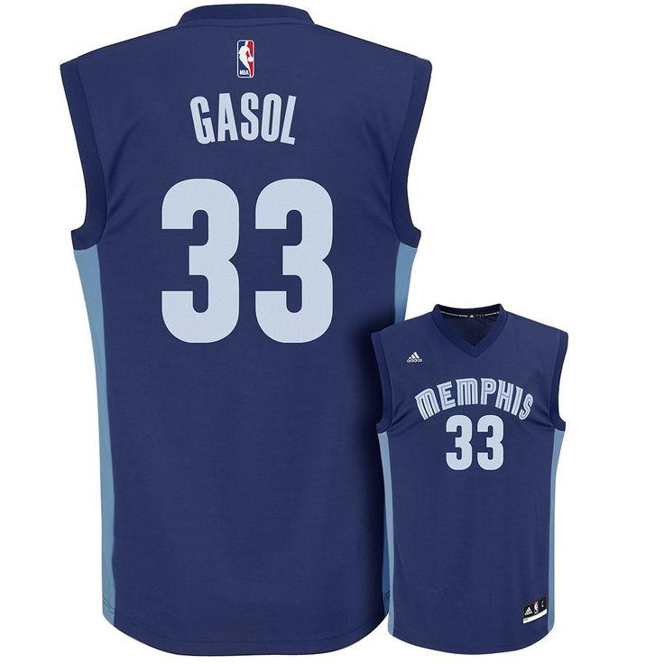 Men's Adidas Memphis Grizzlies Marc Gasol Replica Jersey, Size: Medium, Blue (Navy)