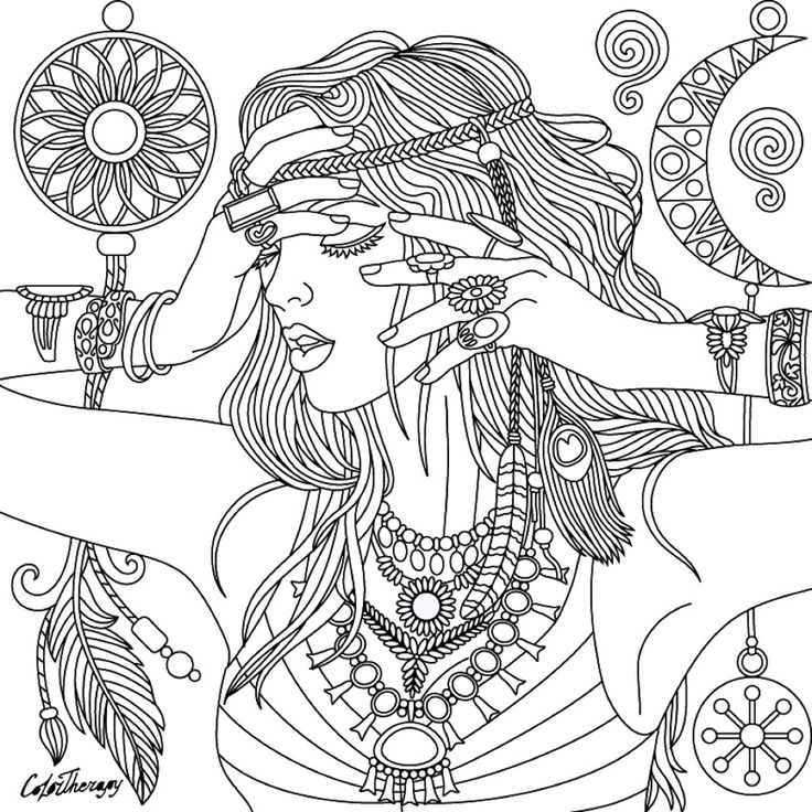 142 best DreamCatcher Coloring Pages for Adults images on