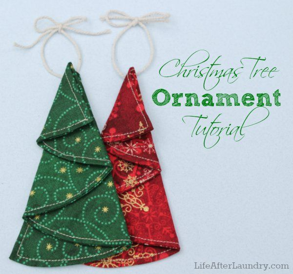 Christmas in July- Christmas Tree Ornament Tutorial from LifeAferLaundry.com