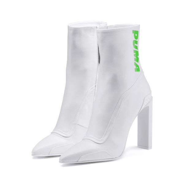 Image 1 of FENTY Women's Ankle Boot Heels, Puma White-Green ...