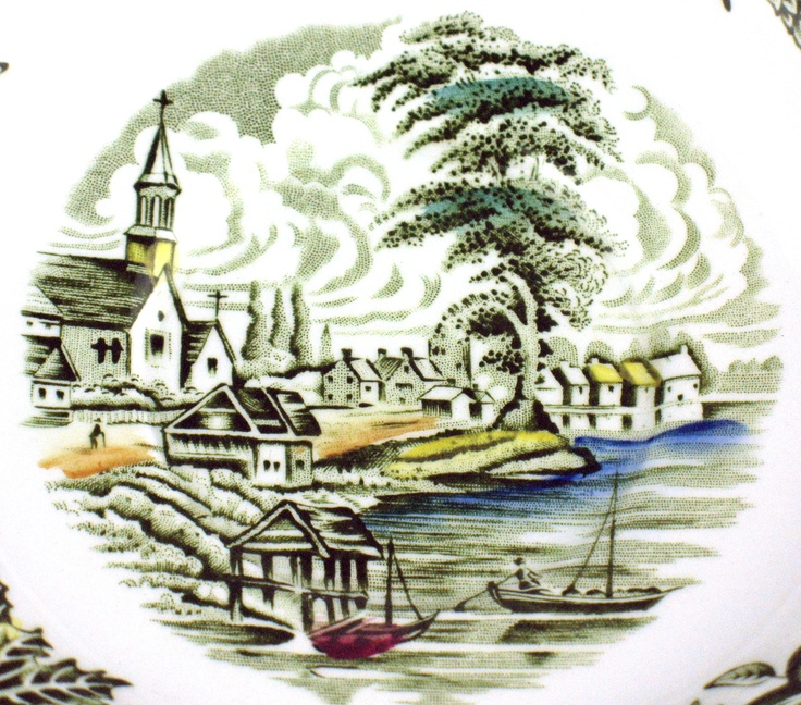 Heritage pattern from Ridgway Pottery - Village of Cedars