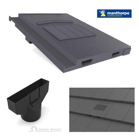 Grey Roof Tile Vent & Pipe Adaptor / Marley Modern – Homesmart