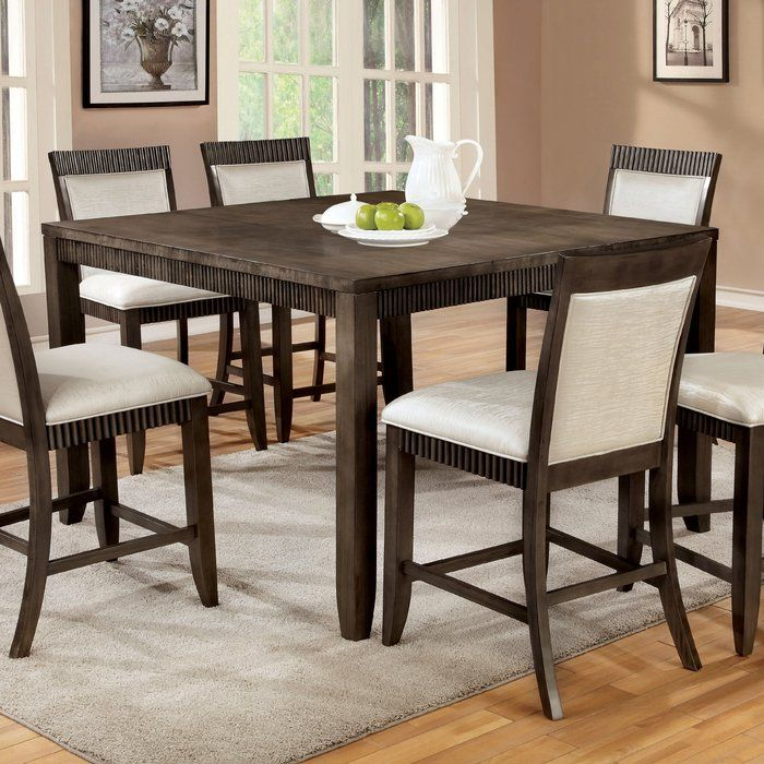 Gayet Counter Height Extendable Dining Table Pub Dining Set