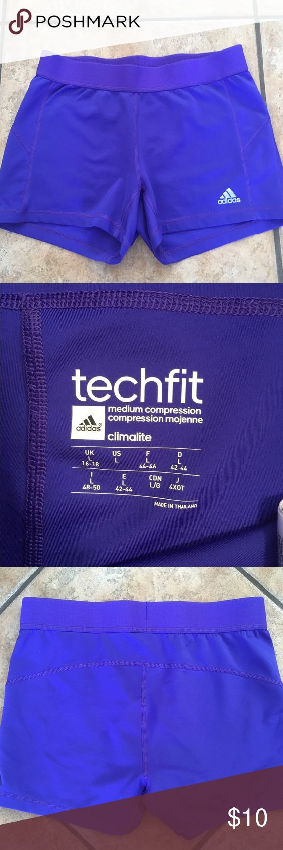 Adidas Climalite Medium Compression Shorts (Large) Adidas Tech Fit Medium Compression Shorts w/ Climalite (Size Large). *Excellent Condition! Adidas Shorts