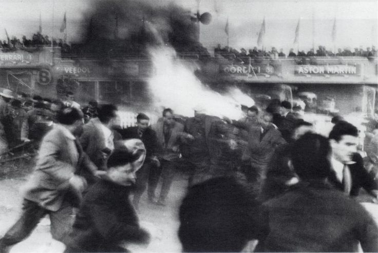 Six of The Most Horrific Car Race Crashes: 1955 Le Mans Disaster.