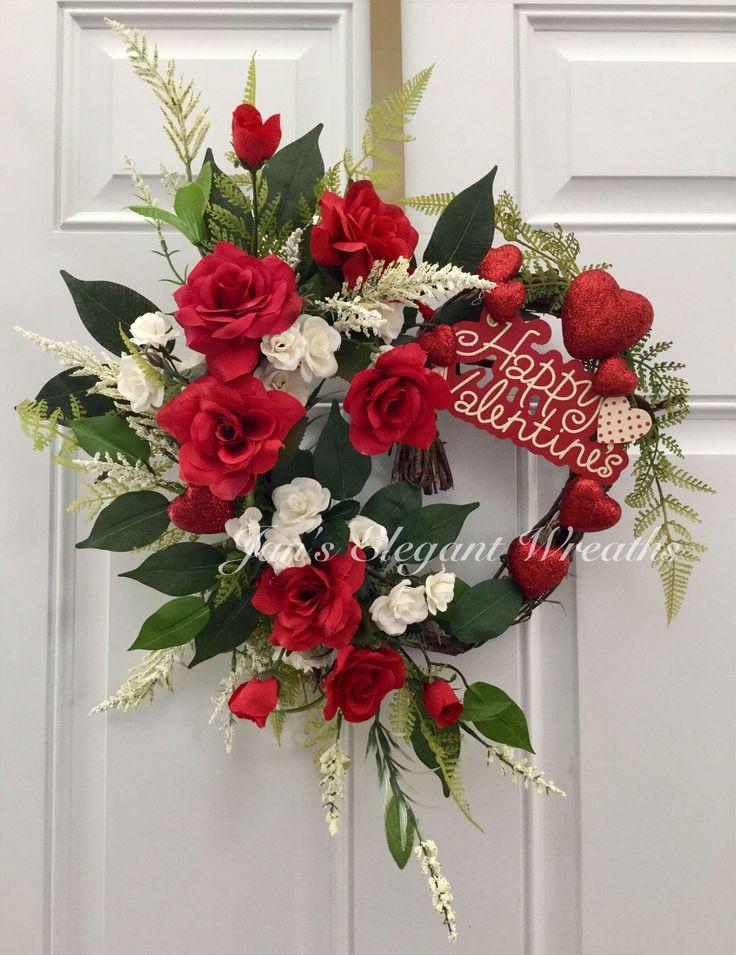 Valentine Wreath Red Rose Wreath Spring Wreath Heart