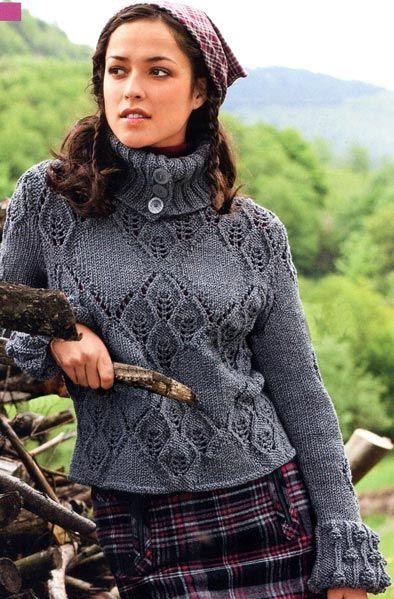 Пуловер с воротником «гольф». Модели для молодежи