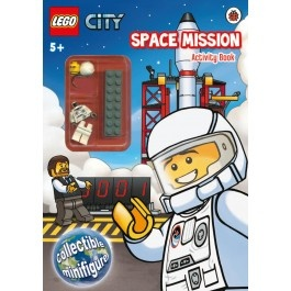 lego city space mission activity book with lego minifigure 995