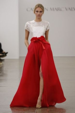 Carmen Marc Valvo at New York Fashion Week Fall 2013 --OMYGOSH I want this for the christmas party season!!!