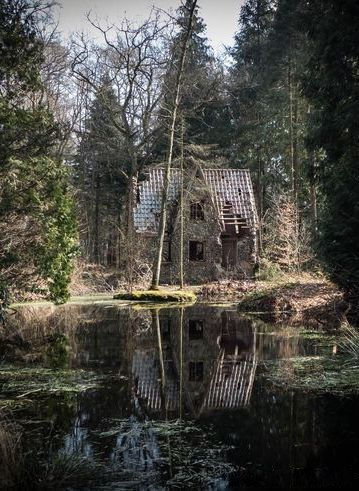 """ghostlywatcher: """" Abandoned house in a forest, Denmark. """""""