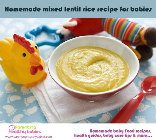 Homemade Mixed Lentil Recipe For Babies