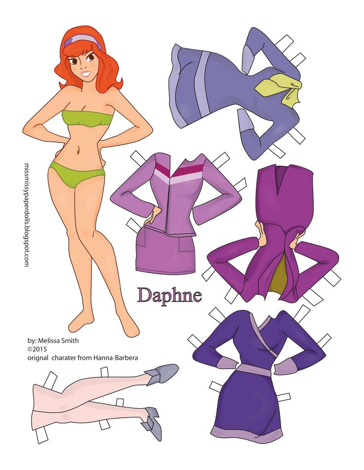 Miss Missy Paper Dolls: Scooby Doo Paper Dolls Daphne and Velma