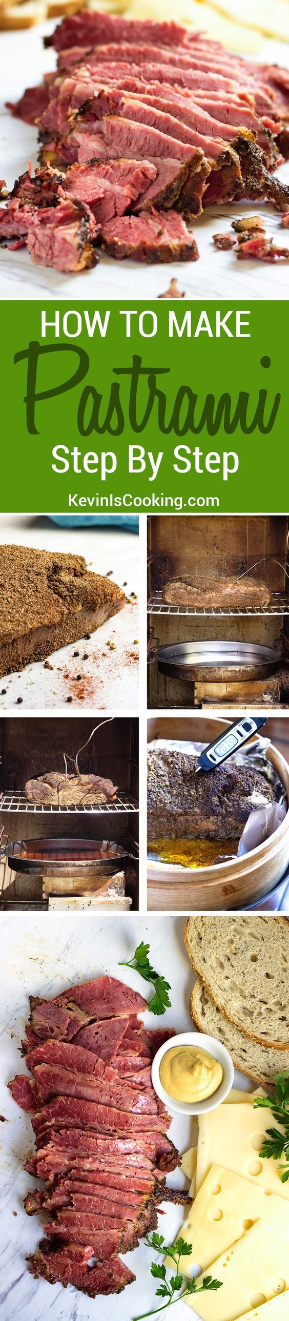 This is a fantastic step by step recipe on how to make pastrami! Fantastic flavor and perfect for sandwiches, rarely are there any leftovers.