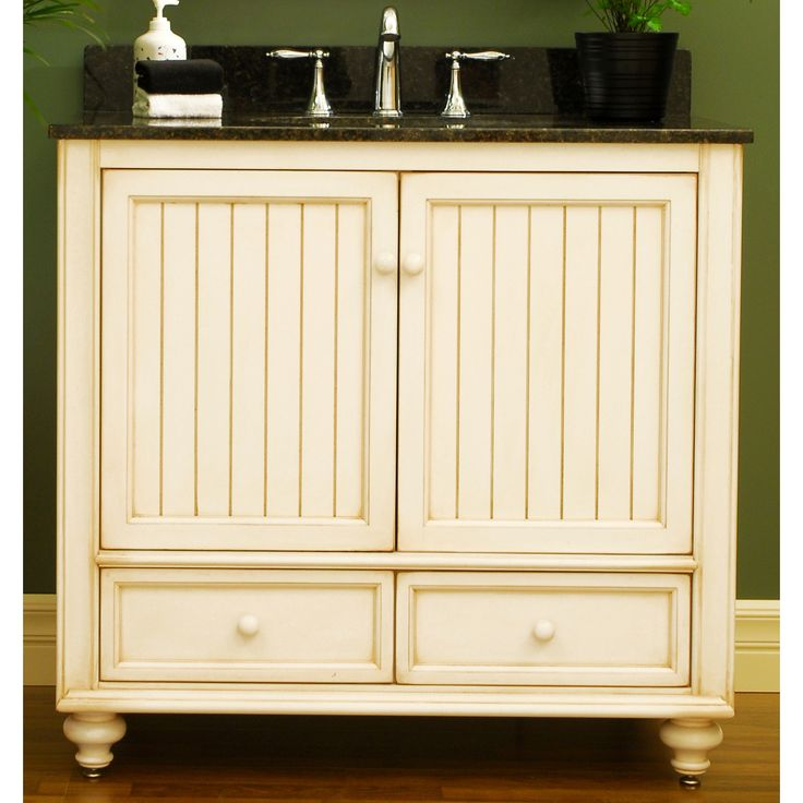 Photo Of Cottage Beadboard Sunnywood Bathroom Vanities Sunnywood Wood Bathroom Vanity Cabinet From The Bristol Beach Collection Cottage Style Vanity in White