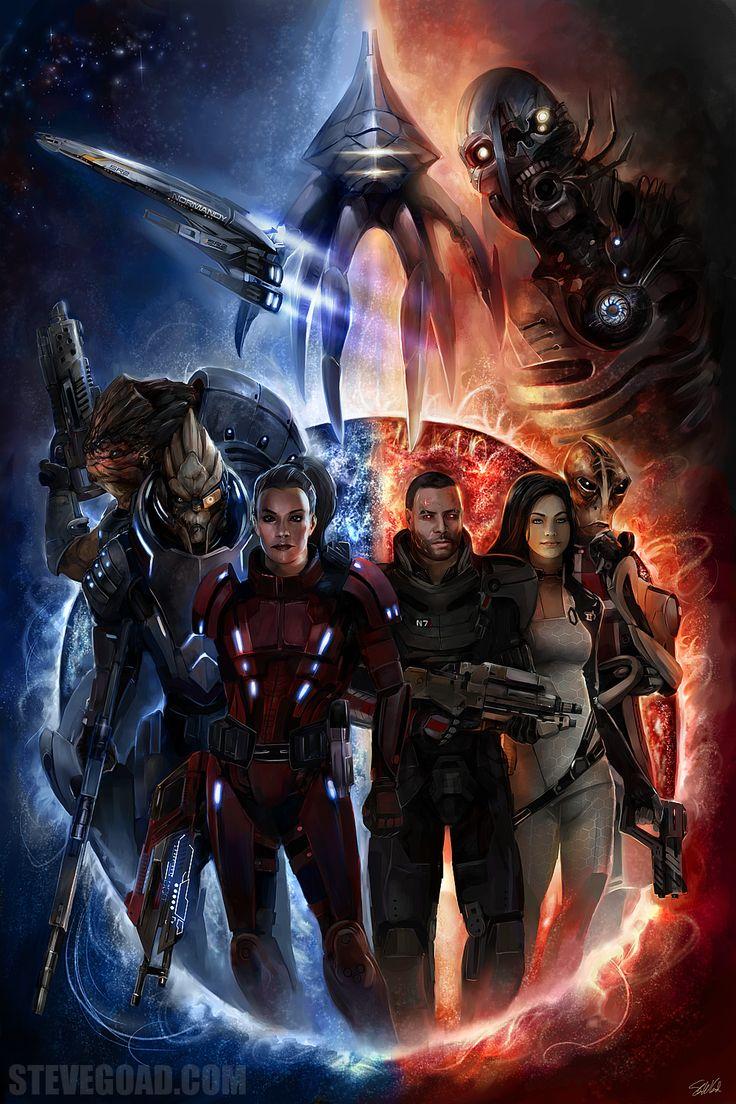 mass effect art | Commissions – Mass Effect Artwork | Steve Goad Art