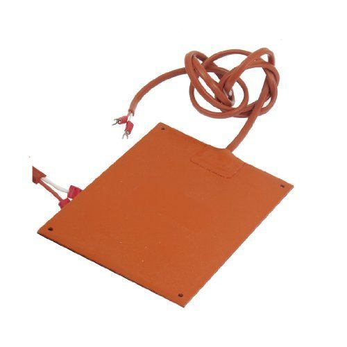 Amico Orange Red Silicone Rubber Heating Heater 100W 220V 185mmx120mm by Amico. $20.42. Made of silicone rubber, metal material, rectangle shape, easily bonded and mechanically mounted to heat sink. The silicone rubber heater can prevent condensation in motors or instrument cabinets. Applications for food service equipment, airplane engine heaters, aerospace industry, drums and other vessels and viscosity control and asphalt storage,medical equipment such as bl...