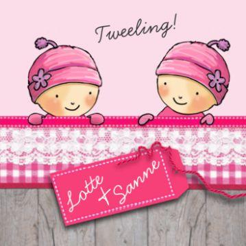 45 best images about getekende geboortekaartjes on for Tweeling ledikant