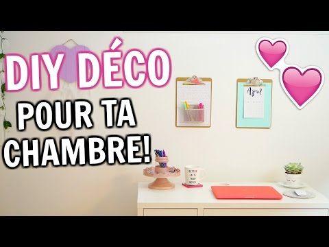 3 DIY déco pour la chambre - YouTube