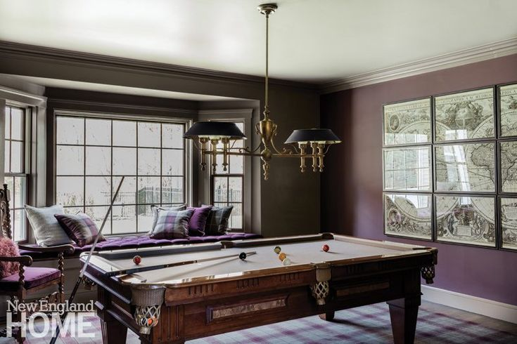 The sitting room got new life as a billiards room.