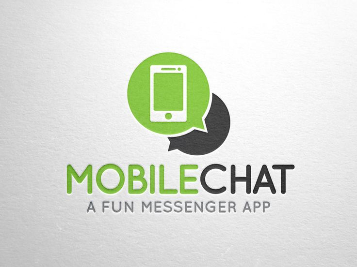 Mobile Chat Logo Design