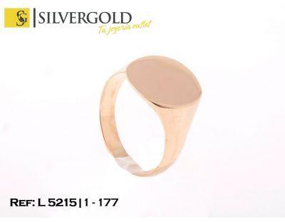 1-1-177-1-Anillo T25 tipo sello oval liso. L5215