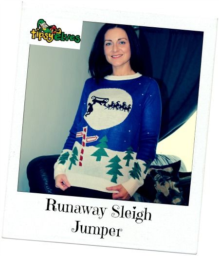 runaway sleigh jumper novelty christmas jumpers by tipsy elves