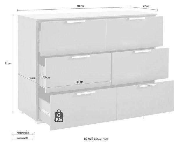 rauch select Schubkastenkommode, Breite 110 cm, Made in Germany