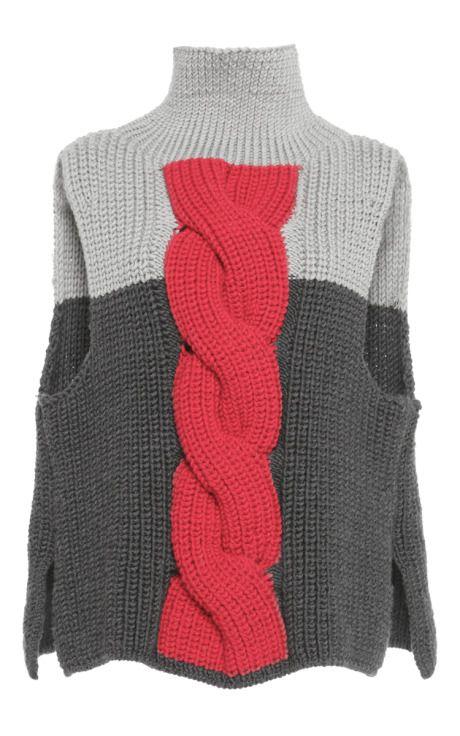 Cable Knit Front Pullover by Vika Gazinskaya for Preorder on Moda Operandi