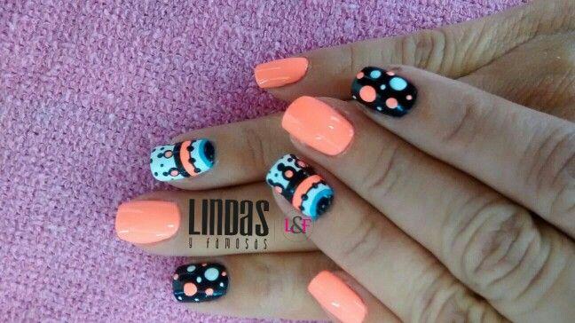 Nails Orange