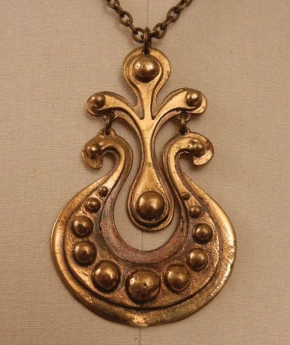 Seppo Tamminen, vintage brass pendant, 1960's.