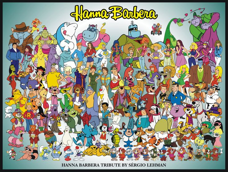 Hanna Barbera cartoons are still artsy to me even as an adult. Can you find your favorites in the picture? Mine are Scooby Doo and the gang, The Flintstones, The Jetsons, Josey and Pussycats. Should I go on. Nope it's your turn.