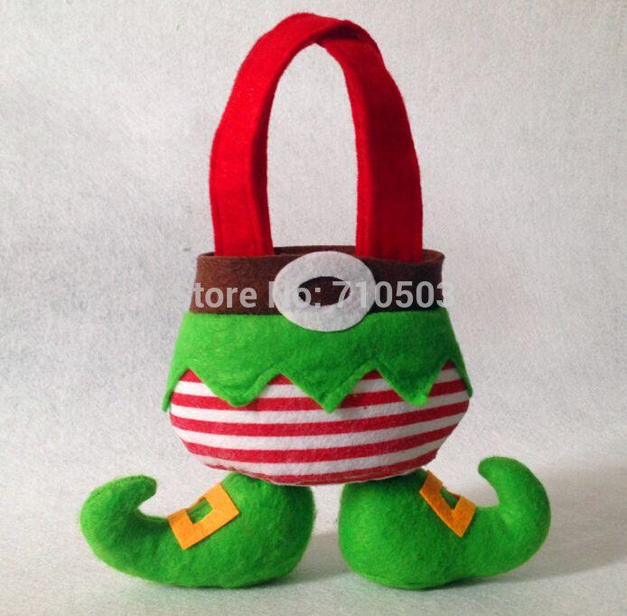 Рождественский Эльф Рождественский подарок мешок конфеты мешок Рождественский подарок может песок