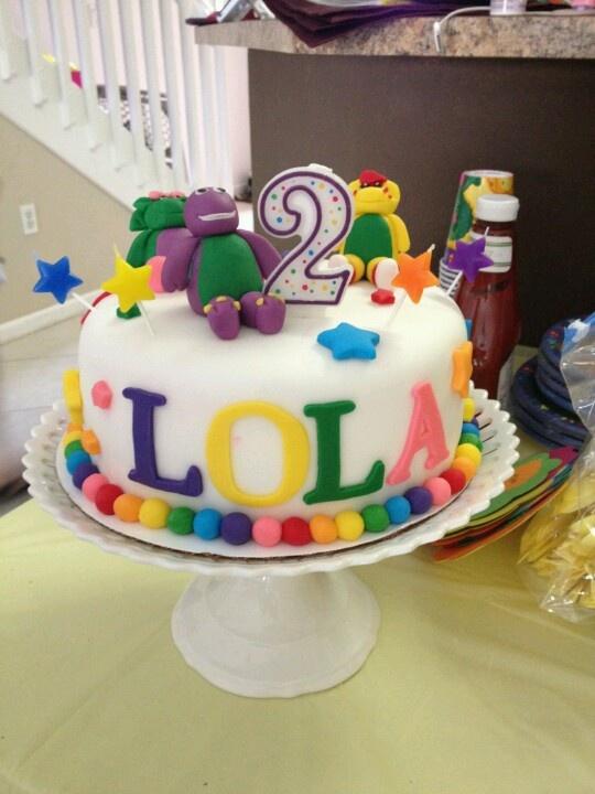 Barney cake- My daughter's 2nd birthday cake