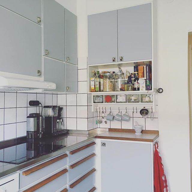 Part of my kitchen that I renovated in retro style 2015. #kitchen #kök #retrokök #retro #retrokitchen #sweden #småland #kalmar #lindö #norrgårdsgärdet #interior #interiordesign #1945 #ikea #reda #valnöt #walnut