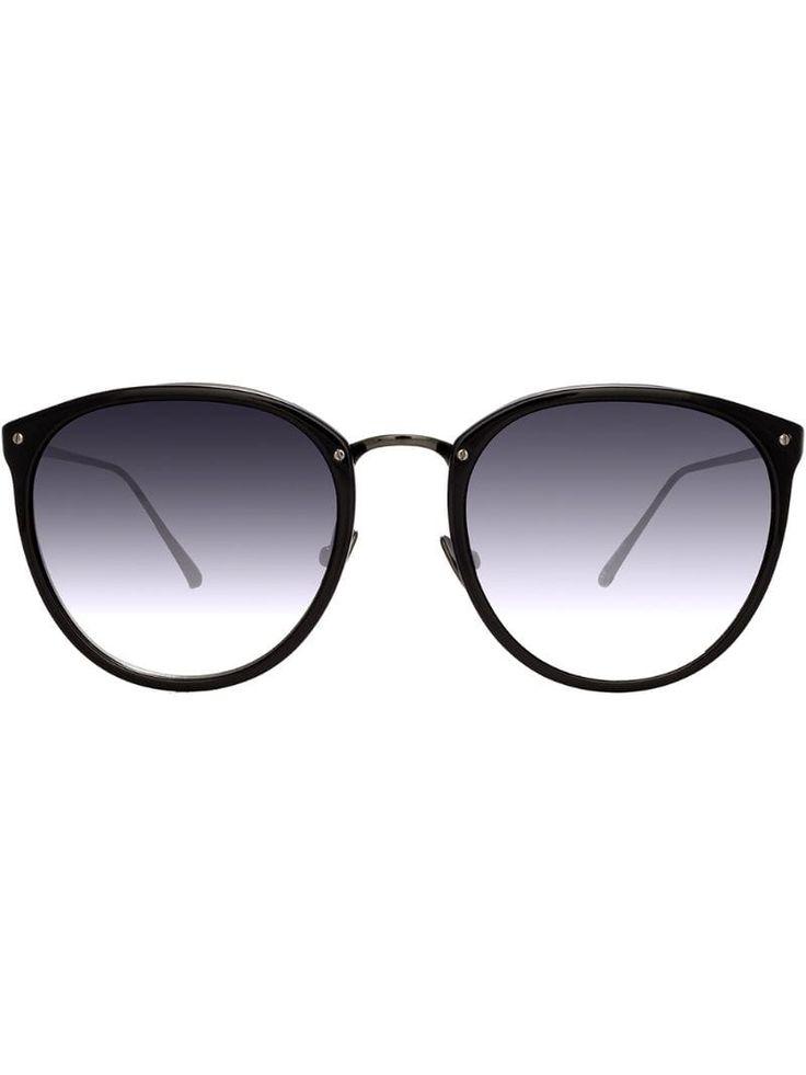 Linda Farrow 251 C61 oval sunglasses – Black