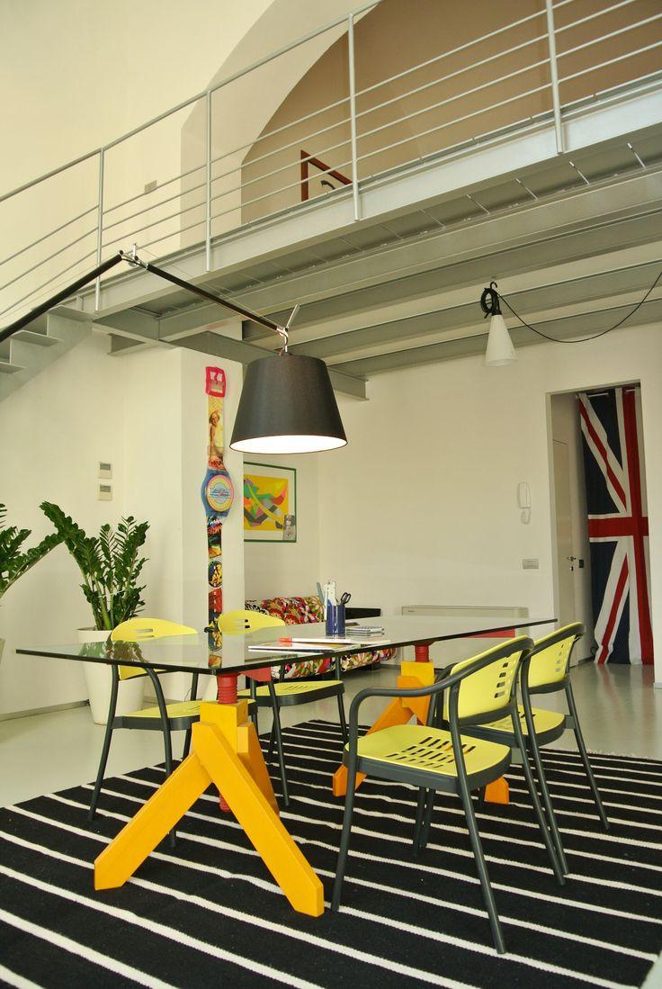 I due livelli del nostro nuovo studio  #kartell #architettura  #interior