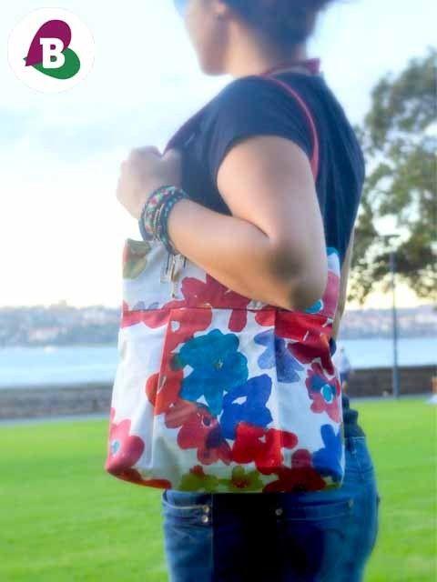 Wild Flower Tote Bag - Handmade - Totes - Because I Like It