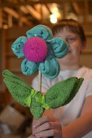 Kitchen Towel Flower. To make your own, visit: http://www.norwex.biz/PublicStore/stores/CFlynn/AM/catalog/Kitchen-Cleaning,202.aspx
